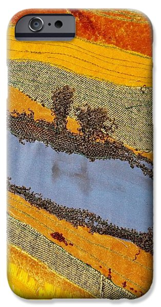River Tapestries - Textiles iPhone Cases - Stream iPhone Case by Katharina May