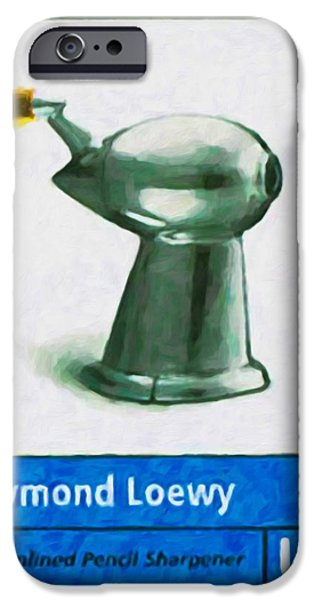 Old Pitcher Paintings iPhone Cases - Streamlined pencil sharpener iPhone Case by Lanjee Chee