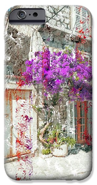 Cities Tapestries - Textiles iPhone Cases - Street in Dubrovnik iPhone Case by Elaine Berger