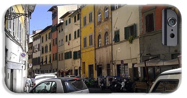 Ted Williams iPhone Cases - Street In Florence iPhone Case by Ted Williams