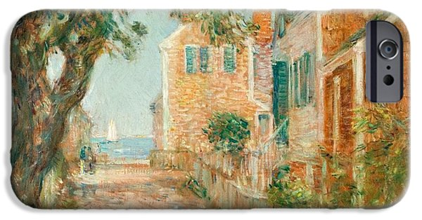 Childe iPhone Cases - Street in Provincetown iPhone Case by  Childe Hassam