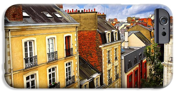 Rooftop iPhone Cases - Street in Rennes iPhone Case by Elena Elisseeva