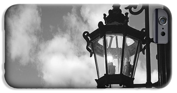 Business iPhone Cases - Street lamp iPhone Case by Tony Cordoza