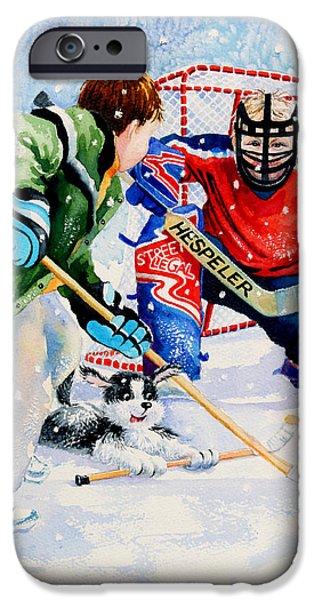 Hockey Paintings iPhone Cases - Street Legal iPhone Case by Hanne Lore Koehler