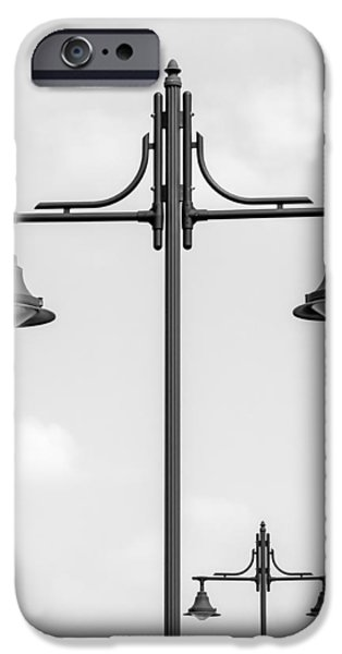 Lamppost iPhone Cases - Street Lights iPhone Case by Wim Lanclus