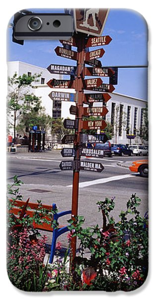 Built Structure iPhone Cases - Street Name Signs At The Roadside iPhone Case by Panoramic Images