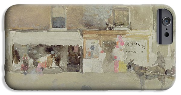 Chelsea iPhone Cases - Street Scene in Chelsea iPhone Case by James Abbott McNeill Whistler
