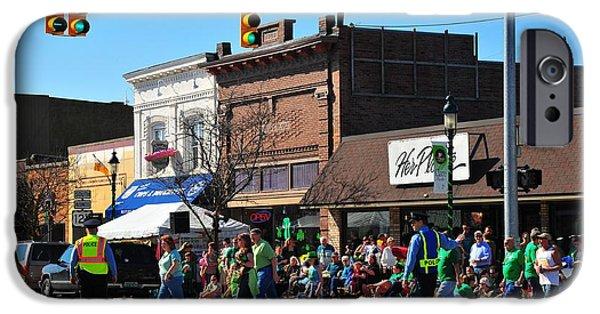 Clare Michigan iPhone Cases - Street Scene in Clare Michigan iPhone Case by Terri Gostola