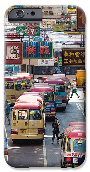 Street scene in Hong Kong iPhone Case by Matteo Colombo
