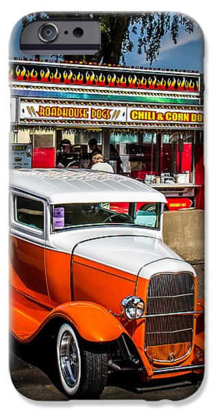 Old Digital Art iPhone Cases - Street Scene iPhone Case by Perry Webster