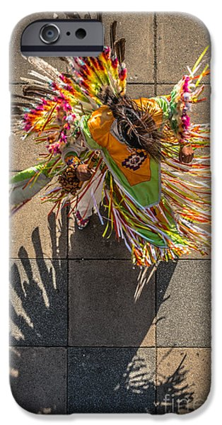 Candid Photographs iPhone Cases - Street Shadow Dancer iPhone Case by Ian Monk