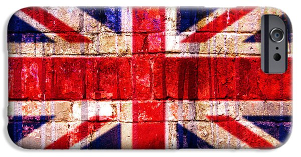 Patriots iPhone Cases - Street Union Jack iPhone Case by Delphimages Photo Creations