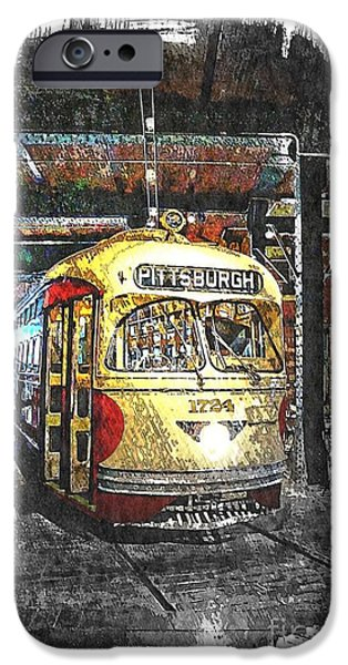 Pcc iPhone Cases - Pittsburgh Streetcar 1724 iPhone Case by Spencer McKain
