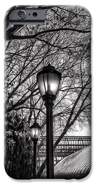 Streetlight iPhone Cases - Streetlamp Brooklyn iPhone Case by H James Hoff