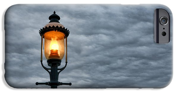 Streetlight Photographs iPhone Cases - Streetlight iPhone Case by Olivier Le Queinec