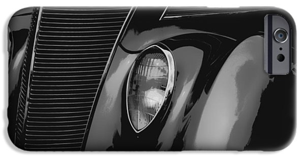 Airbrush iPhone Cases - Streetrod 1937 Ford iPhone Case by Jack Zulli