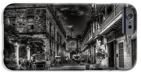 Black History iPhone Cases - Streets of Havana BW iPhone Case by Erik Brede