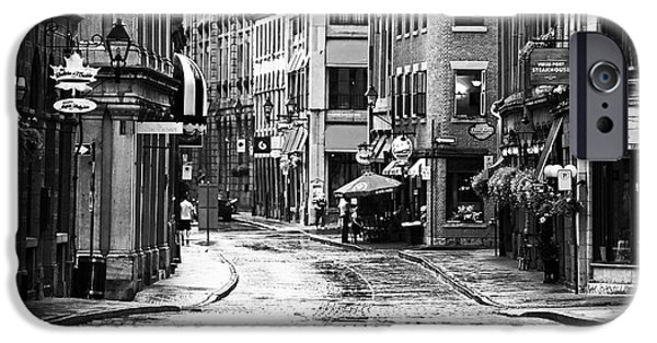 Streets Of Montreal iPhone Cases - Streets of Montreal iPhone Case by John Rizzuto