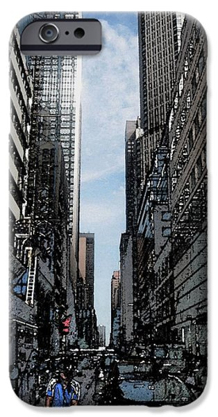 Streets of New York City iPhone Case by Mario  Perez