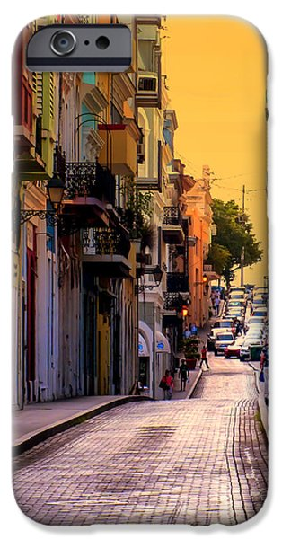 Rainy Day iPhone Cases - STREETS of SAN JUAN iPhone Case by Karen Wiles