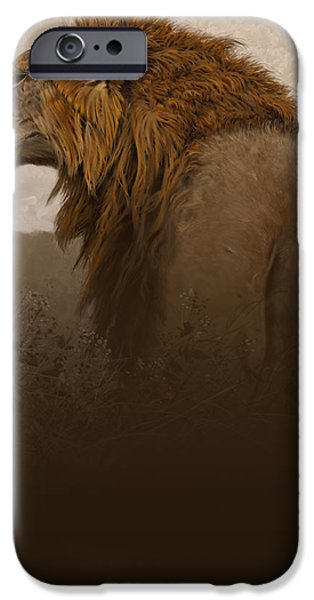 Lion Digital iPhone Cases - Strength iPhone Case by Aaron Blaise