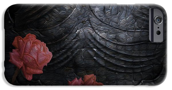 Virtual Digital iPhone Cases - Strength Of A Rose iPhone Case by Jack Zulli