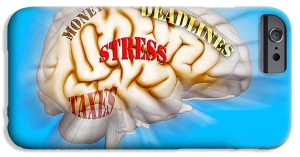 Anguish iPhone Cases - Stress iPhone Case by Scott Camazine