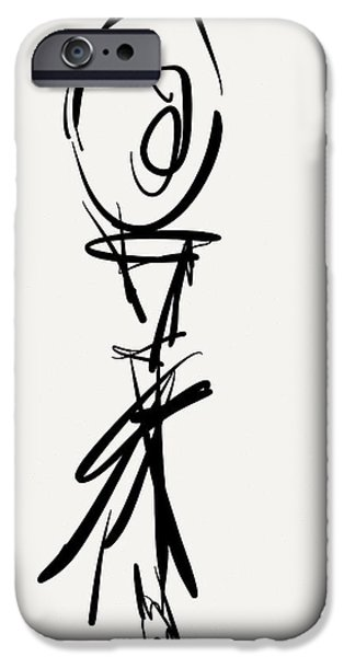 Gestures Drawings iPhone Cases - Stretch iPhone Case by Kevin Houchin