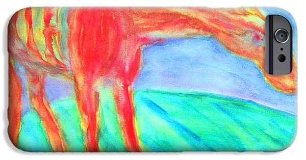 Best Sellers -  - Component Paintings iPhone Cases - Stretch my neck  iPhone Case by Hilde Widerberg
