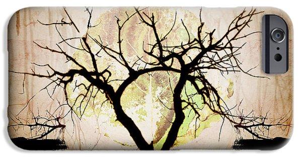 Epic Amazing Colors Landscape Digital Modern Still Life Trees Warm Natural Earth Organic Paint Photo Chic Decor Interior Design Brett Pfister Art Digital Art Iphone Cases Digital Art iPhone Cases - Stretching iPhone Case by Brett Pfister