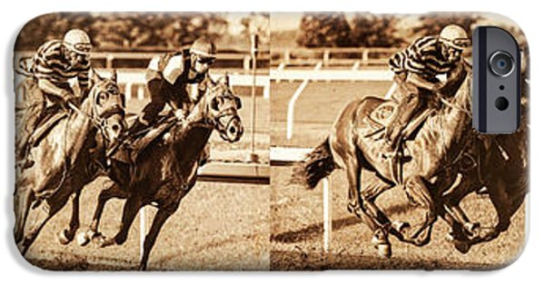 Keeneland iPhone Cases - Stride For Stride iPhone Case by Terri Cage