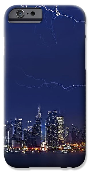 Strikes and Bolts in NYC iPhone Case by Susan Candelario