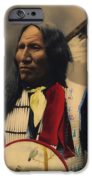 Nebraska iPhone Cases - Strikes With Nose Oglala Sioux Chief  iPhone Case by Heyn Photo
