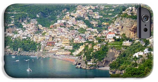 Village iPhone Cases - Striking Beauty of Positano iPhone Case by Marilyn Dunlap