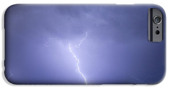 Lightning Photographer iPhone Cases - Striking Distance iPhone Case by James BO  Insogna