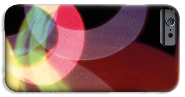 Fine Art Abstract iPhone Cases - String of Lights 1 iPhone Case by Mike McGlothlen