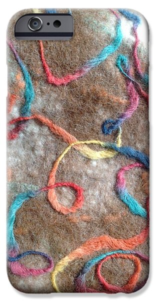 One Tapestries - Textiles iPhone Cases - String Theory Wall Hanging iPhone Case by Martha Nelson