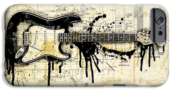 Fender Strat iPhone Cases - Strings Attached iPhone Case by Gary Bodnar