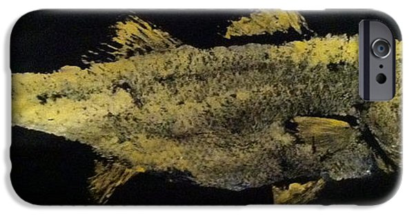 Sportfish Mixed Media iPhone Cases - Striped Bass iPhone Case by Jeffrey Canha