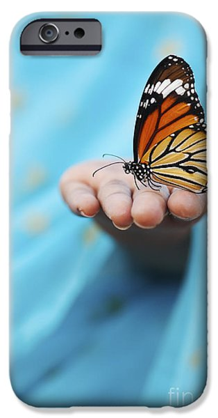 The Tiger iPhone Cases - Striped Tiger Butterfly iPhone Case by Tim Gainey