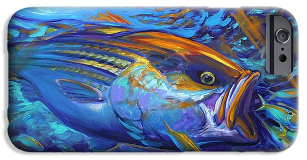 Fly iPhone Cases - Striper Blitz iPhone Case by Savlen Art