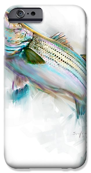 Stripes iPhone Cases - Striper Rise iPhone Case by Savlen Art