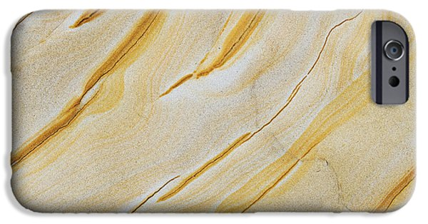 Sandstone iPhone Cases - Stripes in Stone iPhone Case by Tim Gainey