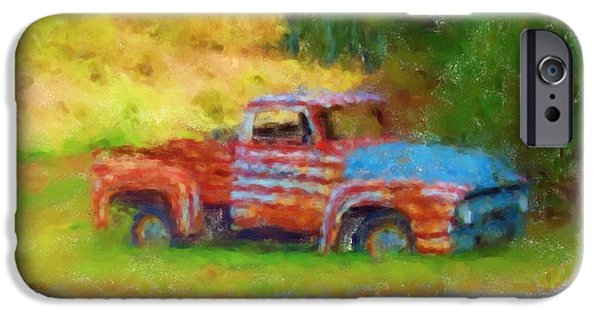 Rust Pastels iPhone Cases - Stripes of Red White and Rust iPhone Case by Julie Knapp