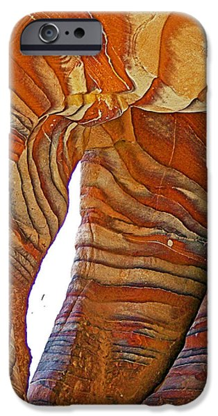Jordan iPhone Cases - STRIPES Rock in Petra-Jordan  iPhone Case by Ruth Hager