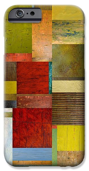 Corporate Art Digital Art iPhone Cases - Strips and Pieces l iPhone Case by Michelle Calkins