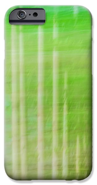 Abtracts iPhone Cases - Strokes of Nature iPhone Case by Carolyn Marshall