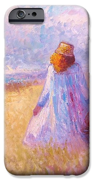 Stroll by the Sea iPhone Case by Martha Sterling