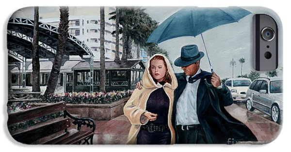 Recently Sold -  - Rainy Day iPhone Cases - Strolling On The Promenade iPhone Case by Theo Michael