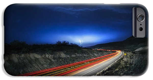 Bolts iPhone Cases - Storm Chasers iPhone Case by Sean Foster